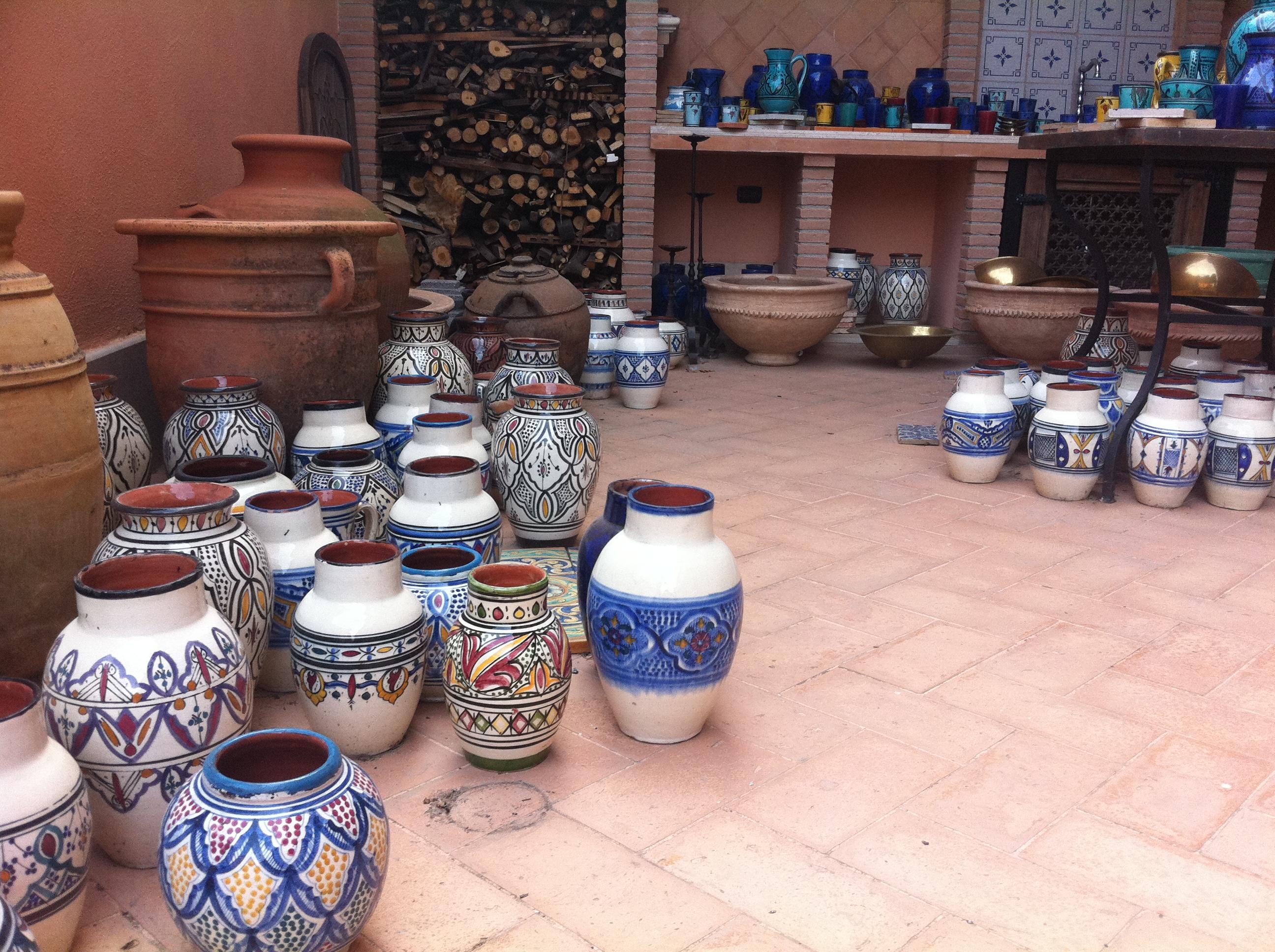 Orientale : vasi marocchini bianchi